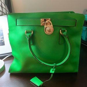 Green Michael Kors purse